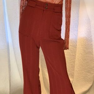 New Free People High Waist Wide Leg Pant